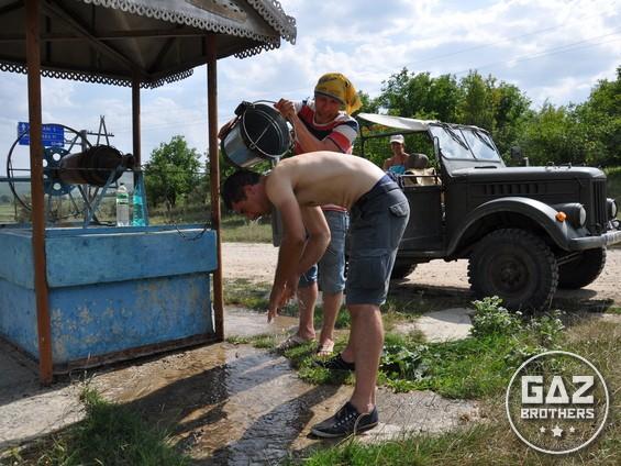 Terenówka Gaz 69 i mołdawska studnia