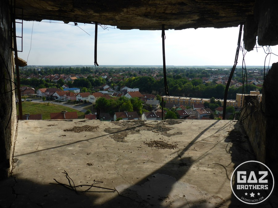 Widok na Vukovar z wieży ciśnień