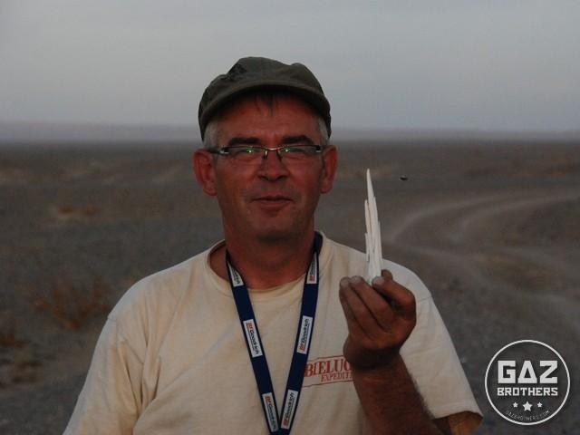 Mirosław Pasoń na mongolskim stepie