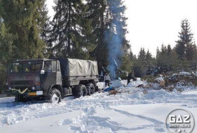 Zimowa wyprawa Starem 266 do Rumunii