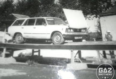 Fiat 125p kombi na kanale w Jugosławii